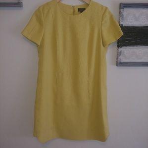 Tahari ASL yellow shift dress